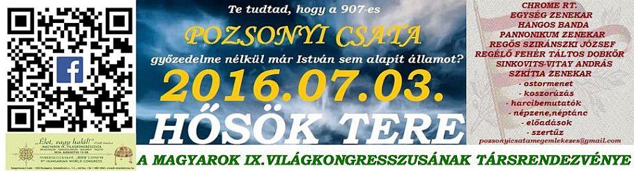 Pozsonyi csata megemlékezés 2016