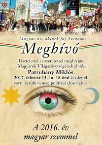 Patrubány Miklós februári nemzetpolitikai előadása